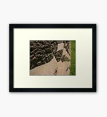 Bricks In A Row Framed Print