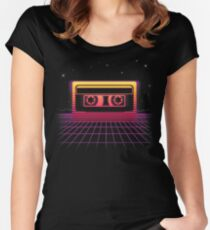 Sunset Cassette II Women's Fitted Scoop T-Shirt