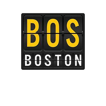 BOS - Boston Airport Code by albertellenich