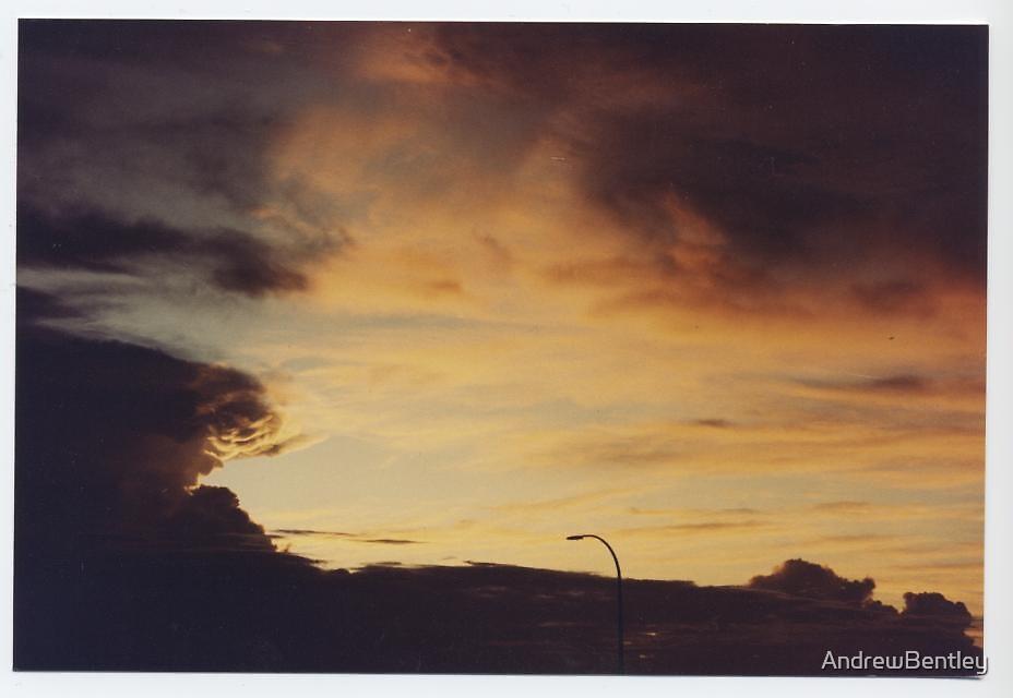 Sunset storm Karratha WA by AndrewBentley