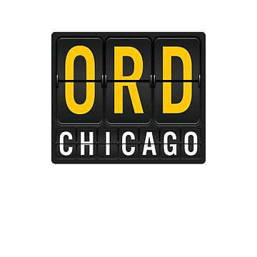ORD - Chicago O'Hare Airport Code by albertellenich