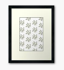 Green Leaf Print Framed Print