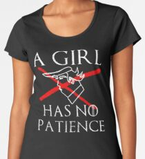 A Girl Has No Patience for Trump Women's Premium T-Shirt