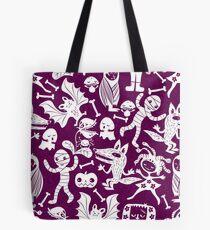 Purple Happy Monsters Tote Bag