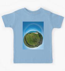 Kinnagoe Bay (as a floating green planet) Kids Tee