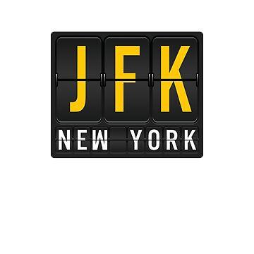 JFK - New York Airport Code by albertellenich