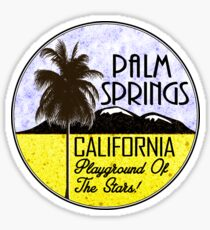 Palm Springs California Playground of the Stars Desert Vacation Sticker