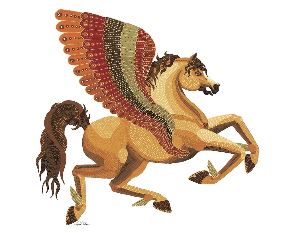 Pegasus from the Carousel Series by Ingrid Kostron