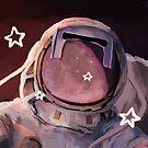 Interstellar Journey | Astronaut Illustration by kotanya