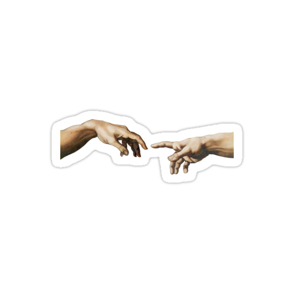 Quot Aesthetic Hand Touch Quot Stickers By Marco Darvish Redbubble
