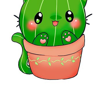 "Cute Kawaii cactus cat ""Free Hugs"" by linkitty"