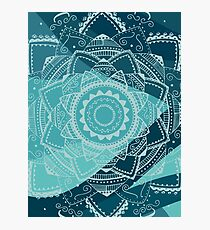 singing white mandala Photographic Print