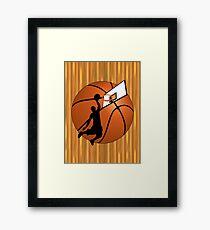 Slam Dunk Basketball Player Framed Print