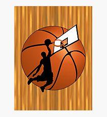 Slam Dunk Basketball Player Photographic Print