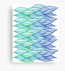 branch bright color blue Canvas Print