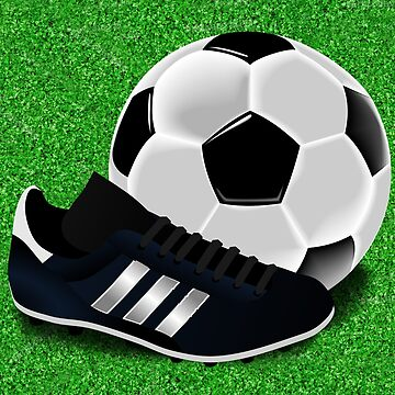 Soccer Cleat and Soccer Ball by Gravityx9