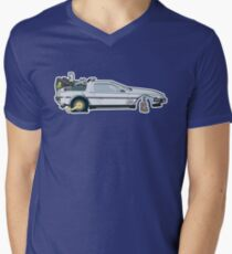 Busted: DeLorean DMC-12 Men's V-Neck T-Shirt