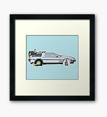 Busted: DeLorean DMC-12 Framed Print