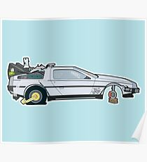 Busted: DeLorean DMC-12 Poster