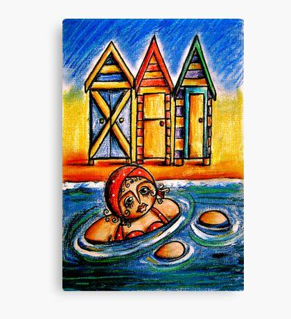 Bathing Boxes Canvas Print