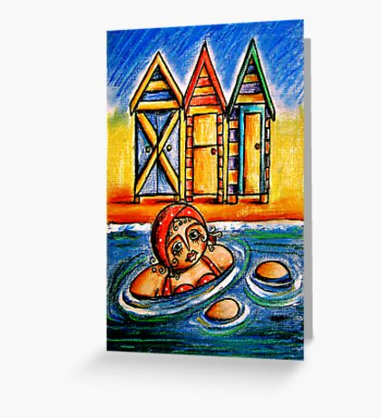 Bathing Boxes Greeting Card