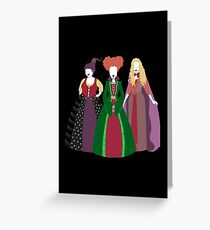 Halloween Witches Greeting Card