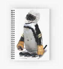 Little Mascot Hockey Player Penguin Spiral Notebook