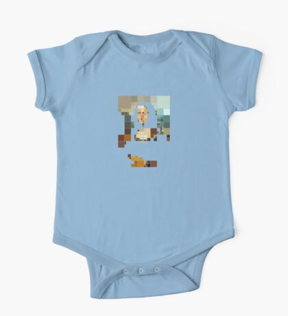 pixelated monalisa Kids Clothes