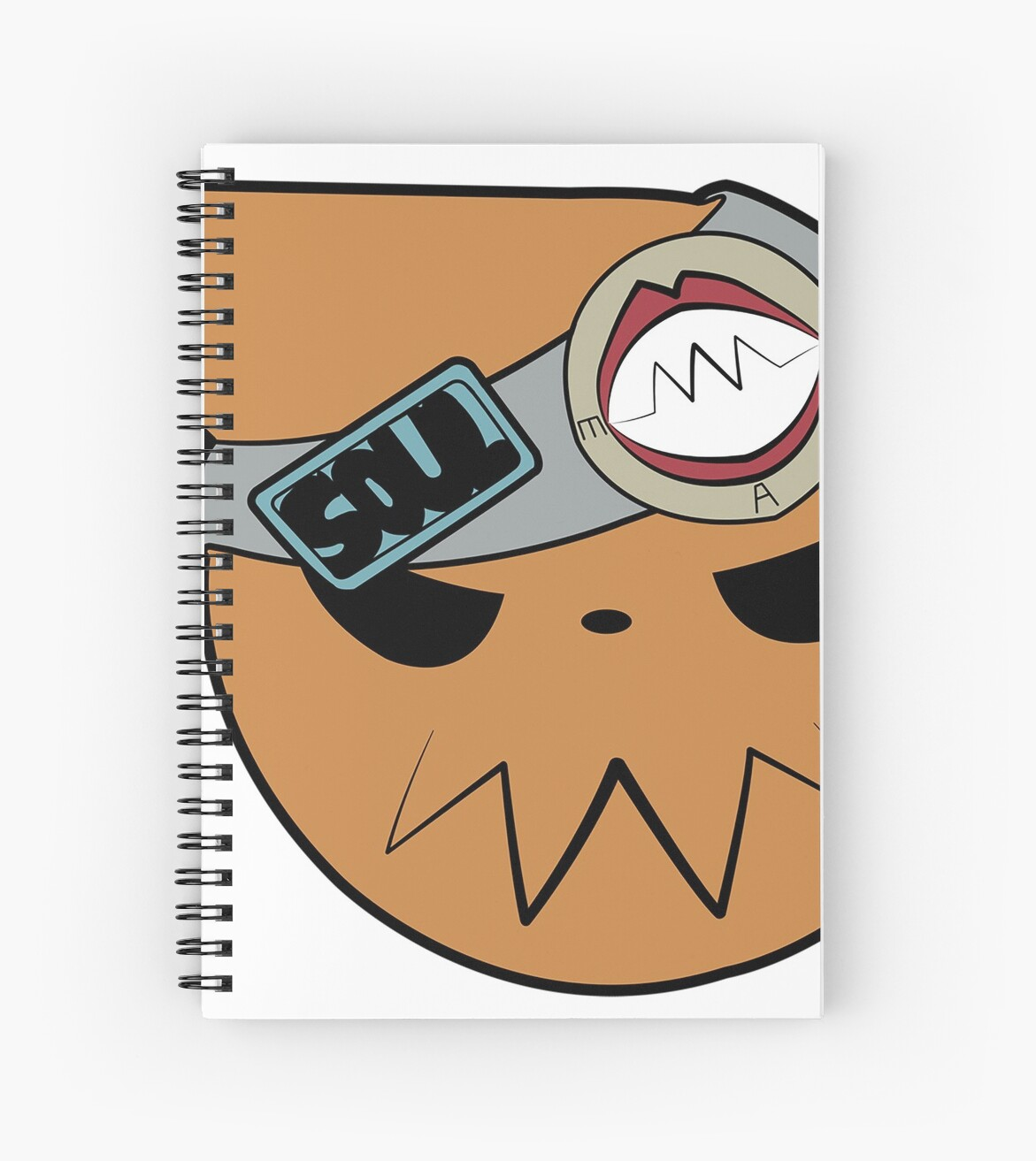 Soul Eater Sign And Headband Spiral Notebooks By Pandainkart