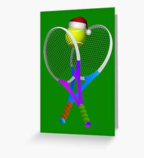 Christmas  Tennis  Greeting Card