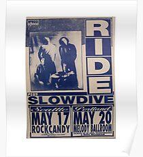 Fahrt, Slowdive-Shoegaze Tour-Plakat Poster