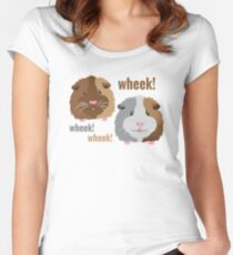 Wheek! Wheek! guinea pigs Women's Fitted Scoop T-Shirt
