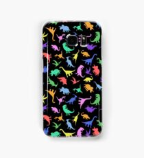 Fun Dinosaur Pattern (Black Background) Samsung Galaxy Case/Skin