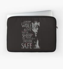 Thrones wolf t-shirt best quote Laptop Sleeve