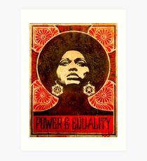 Angela Davis poster 1971 Art Print