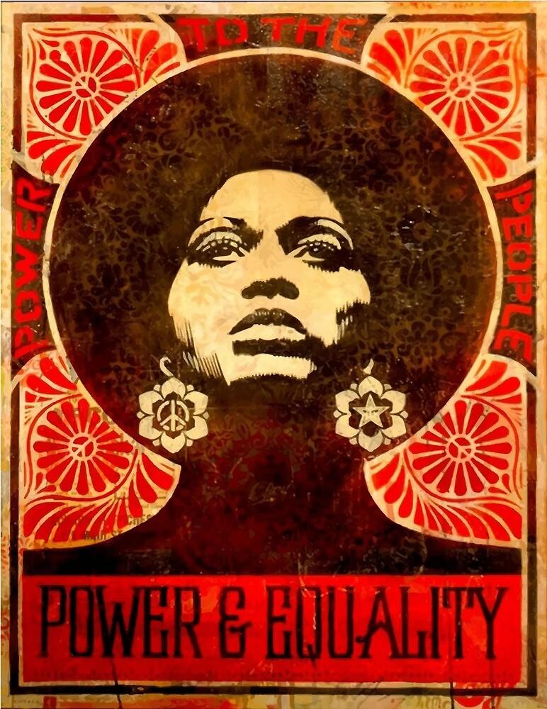 Angela Davis poster 1971 by yussername