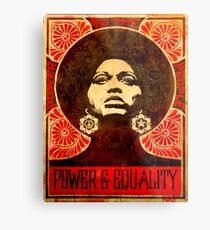 Angela Davis poster 1971 Metal Print