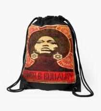 Angela Davis poster 1971 Drawstring Bag