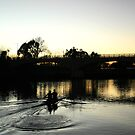 Rowers at dawn by Elaine Li