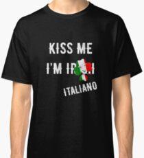 Kiss Me I'm Italian St Patrick's Day Irish Italia Classic T-Shirt