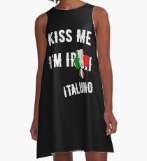 Kiss Me I'm Italian St Patrick's Day Irish Italia A-Line Dress