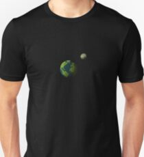 Voxel Earth and Moon T-Shirt