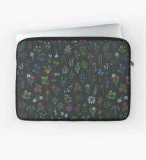 Dark Flower Pattern Laptop Sleeve