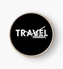 Travel Addict Clock