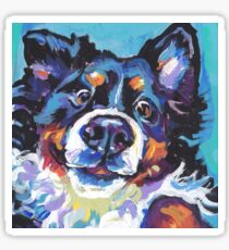 Bernese Mountain Dog Bright colorful pop dog art Sticker