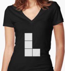 L Tetromino (the Tetris serie) Women's Fitted V-Neck T-Shirt