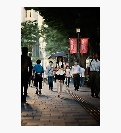 The Girl with the Parasol: Omotesando, Tokyo Photographic Print