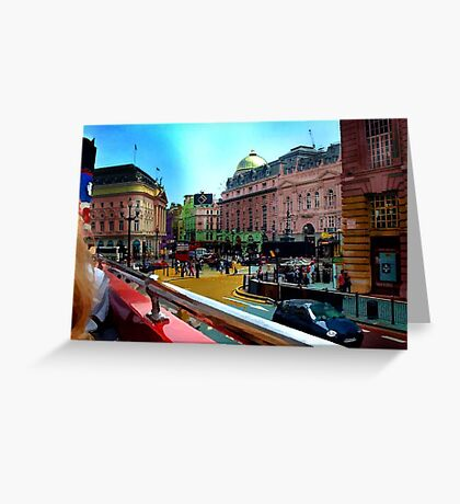 British Drive By Greeting Card