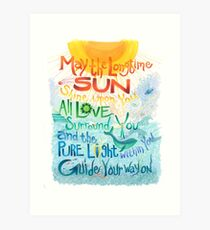 Long Time Sun Art Print