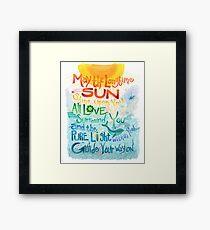 Long Time Sun Framed Print